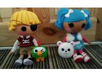2 lalaloopsy dolls with little toys