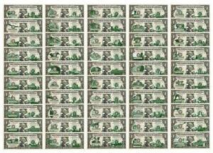 50 Dollar Bill Paper Money Us Ebay