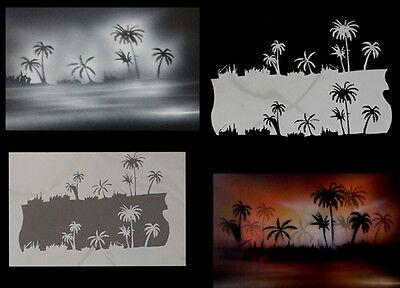 Airbrush Schablonen / Stencil 0627 Palmenlandschaft
