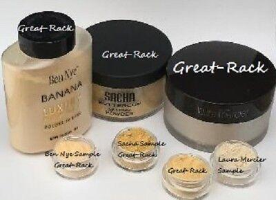 Setting Powder SAMPLES  Sasha BUTTERCUP Laura Mercier Ben Nye BANANA TRANSLUCENT