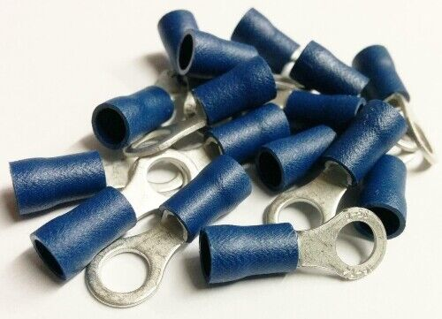 500+BLUE+4.3mm+INSULATED+RING+CONNECTOR+AUTO+ELECTRICAL+CRIMP+TERMINAL+%C2%A32.00%2F100