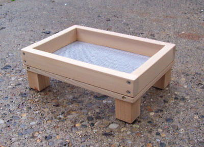 Small Size Cedar Ground Platform Bird Feeder  w/ Screen
