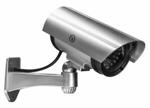 Fake Dummy Security Camera with LED Red Light