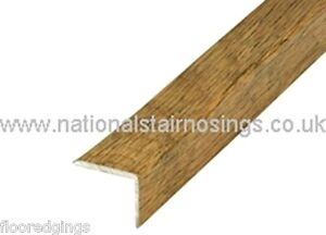 Alumininium Rustic  Oak Stair Nosing Step  Angle Edging  For  Laminate, Wood