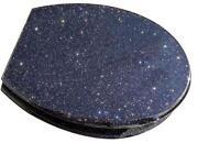 Black Glitter Toilet Seat