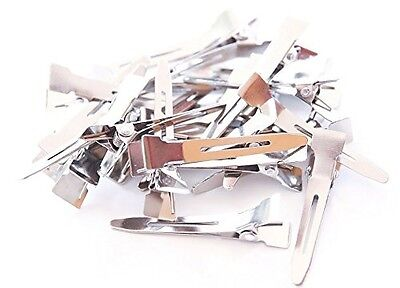 100 Single Prong Alligator Pinch Clips 1 3/4 inch 45 mm  ()