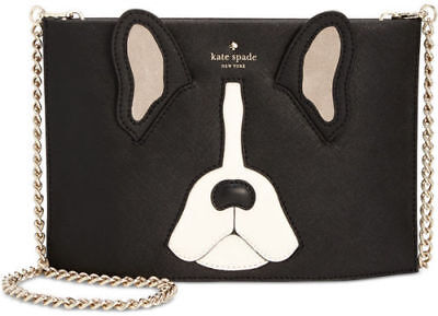 Kate Spade PXRU7961 Ma Cherie ANTOINE SIMA Clutch Crossbody Bag BLACK Multi NWT
