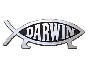 Darwin-Evolution-Fish-Raised-Chrome-Like-Finish-Car-Emblem-Evolved-With-Legs