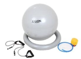 Medicarn Jog On Gym Ball Plus Exerciser with Base and Fitness Expander