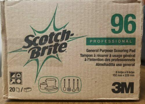 Scotch-Brite #96 Professional General Purpose Scouring Pads Case of 20 NEW