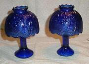 Cobalt Blue Glass Lamp