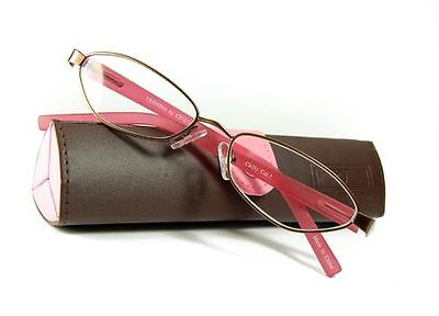 New Cinzia Designer Chilly Reading Glasses Readers w/ Carrying Case + FREE GIFT