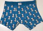 Cartoon Blue Men's Boxer Brief Underwear