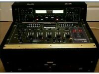 REDUCED Numark DM1635 Mixer and KAM KCD-950 CD player in flight case for pro DJ.