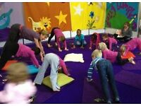 Teach yoga-inspired children's classes for 0 - 7 year olds on a self-employed basis