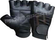 Fingerless Leather Driving Gloves