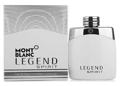 Mont Blanc Legend Spirit 3.3 / 3.4 oz EDT Cologne for Men New In Box