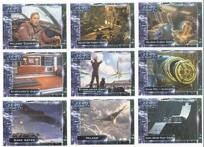 Guardians of the Galaxy Zero Gravity ZG-1 - ZG-9 Cards Complete Set Trading card