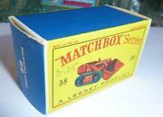 Matchbox Empty Box