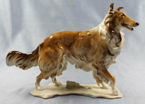 large Porcelainfigurine dog figurine collie porcelain Hutschenreuther achtziger