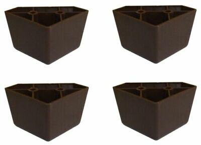 4 Universal Dark Brown Triangle Legs Feet Plastic Furniture Sofa~Couch~Chair