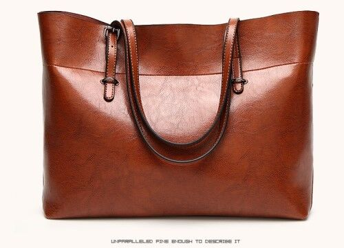 ebce6f17de4 Gift Ideas! Stunning Large Ladies Messenger Tote Bag in Rich brown ...