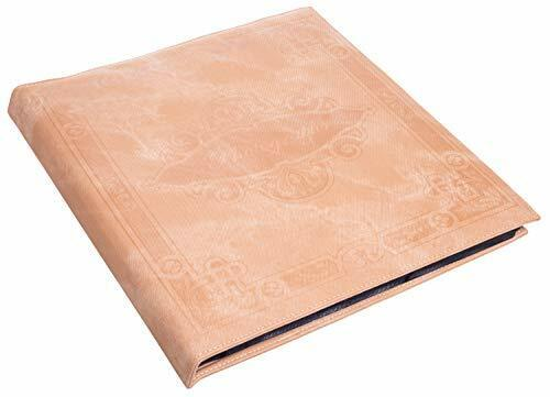 "Beige Faux Leather Photo Album with Embossed Borders, Max. 500 4x6"" Prints"