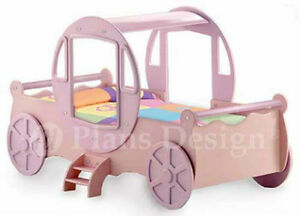 Princess Cinderella Carriage Twin Bed Woodworking Project Plans, Do It Yourself