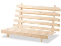 Humza Amani Wood Luxury 2 Seater Metro Futon Sofa Bed Frame, 122 X 196 Cm