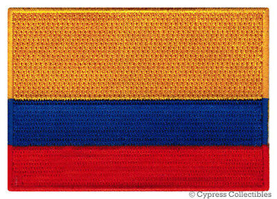 COLOMBIA FLAG embroidered iron-on PATCH COLOMBIAN CENTRAL SOUTH AMERICA SOUVENIR