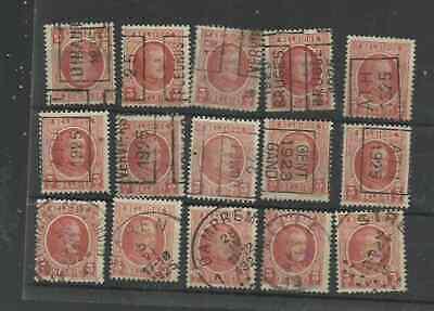 belgique timbres préoblitérés : petit lot sur 3 c albert