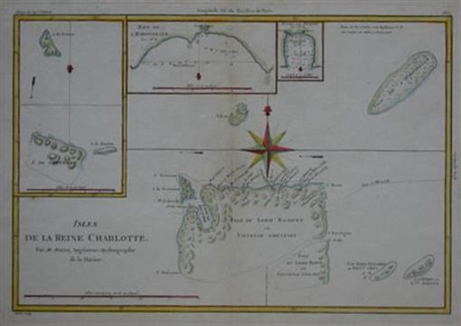Original 1788 Map Capt. Carteret Voyage SOLOMON ISLANDS