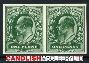 1902 KEVII DLR 1d Green Plate Proof Pair SG 219