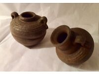 "Pair of Aquarium ""Grecian Urn"" Pottery Ornaments for Fish Tanks, Aquarium or Pond- NEW"