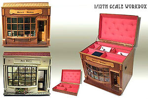 Plans for making a Period Dolls House Shop and Storage Box - 1/12th scale PLANS.