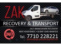 Recovery, Breakdown, Car Transport 24/7 Service Belfast