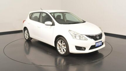 2014 Nissan Pulsar C12 ST-S White 1 Speed Constant Variable Hatchback