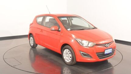 2012 Hyundai i20 PB MY12 Active Electric Red 5 Speed Manual Hatchback Victoria Park Victoria Park Area Preview