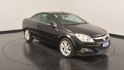 2007 Holden Astra AH MY07 Twin TOP Black 4 Speed Automatic Convertible