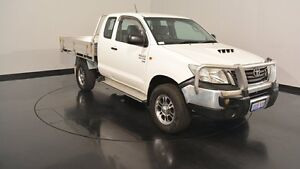 2012 Toyota Hilux KUN26R MY12 SR Xtra Cab White 5 Speed Manual Cab Chassis Victoria Park Victoria Park Area Preview