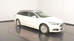 2015 Ford Mondeo MD Trend PwrShift Frozen White 6 Speed Sports Automatic Dual Clutch Wagon Victoria Park Victoria Park Area Preview