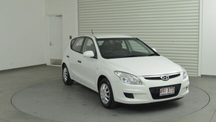 2009 Hyundai i30 FD MY09 SX White 4 Speed Automatic Hatchback Southport Gold Coast City Preview