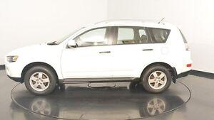 2010 Mitsubishi Outlander ZH MY10 LS White 6 Speed Constant Variable Wagon Victoria Park Victoria Park Area Preview