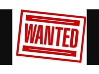 Cars and vans wanted for scrap