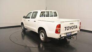 2012 Toyota Hilux KUN16R MY12 SR Double Cab White 5 Speed Manual Utility Victoria Park Victoria Park Area Preview