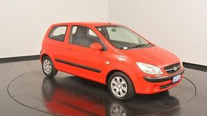 2010 Hyundai Getz TB MY09 S Hip Hop Red 5 Speed Manual Hatchback Victoria Park Victoria Park Area Preview