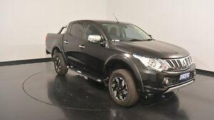 2015 Mitsubishi Triton MQ MY16 Exceed Double Cab Black 5 Speed Sports Automatic Utility Victoria Park Victoria Park Area Preview