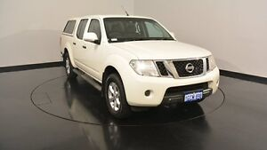 2012 Nissan Navara D40 S6 MY12 ST 25th Anniversary White 6 Speed Manual Utility Welshpool Canning Area Preview