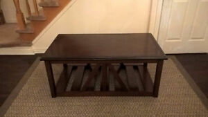 Fancy Large Solid Wood Coffee Table for sale I DELIVER