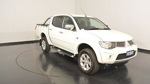 2014 Mitsubishi Triton MN MY15 GLX-R Double Cab White 5 Speed Sports Automatic Utility Victoria Park Victoria Park Area Preview